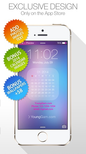 Status Themes Pro ( for iOS7 & Lock screen, iPhone ) New Wallpapers : by YoungGam.com Screenshot
