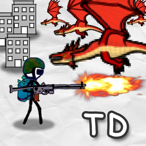 Doodle Wars 4 : Gun vs Sword Lite icon