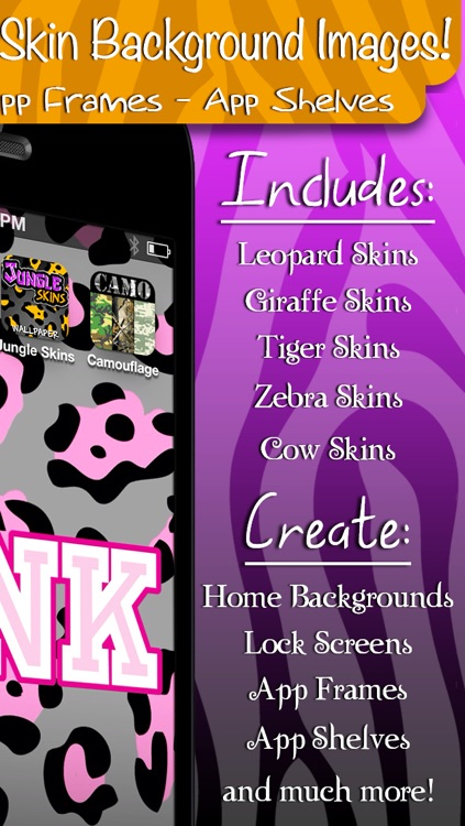 Jungle Skins! - Animal Print Wallpaper and Background Builder