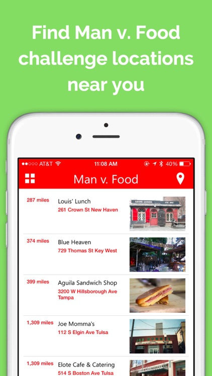 Locator for Man vs Food
