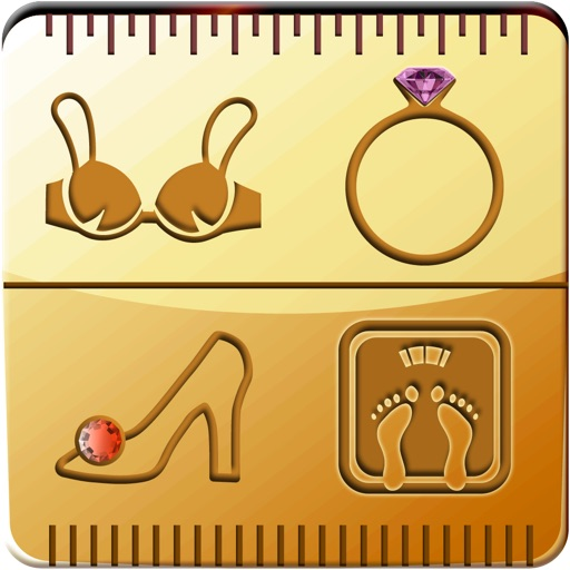 Size Converter™  -  for Ring, Shoes and Bra Size