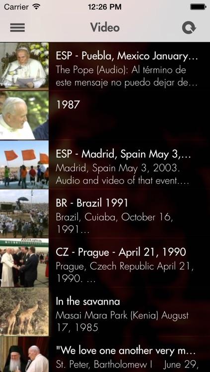 Pope John Paul II: The official App screenshot-4