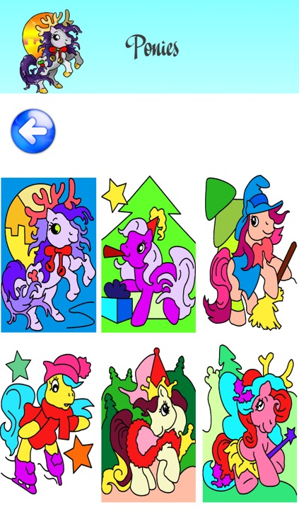 Christmas Coloring Pages for Girls & Boys with Santa & New Year Nick - Pony Painting Sheets & Fashion Papa Noel Games for my Little Kids, Babies & jr Brats