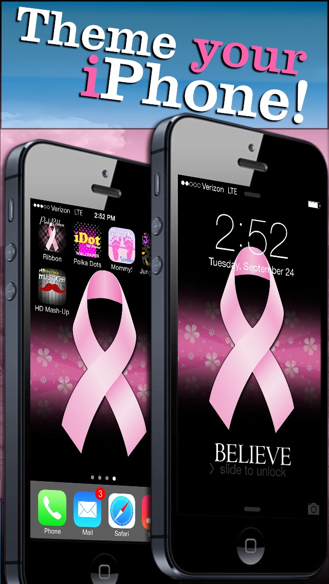 Backgrounds Screenshot 4 For Pink Ribbon Breast Cancer Wallpaper FREE