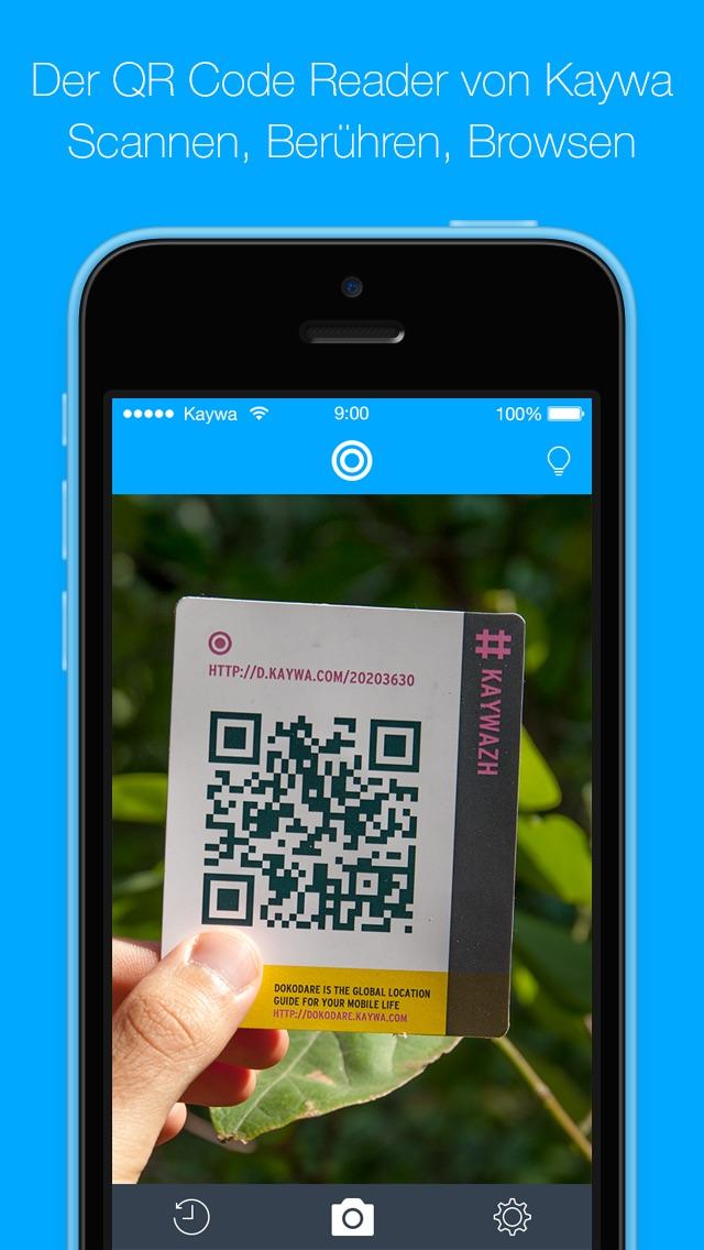Der QR Code Reader von Kaywa - SCANNEN UND BROWSENScreenshot von 1