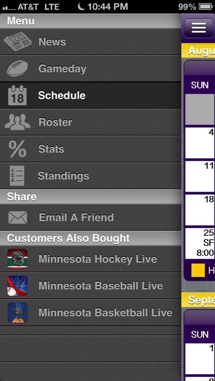 Minnesota Football Live screenshot-3