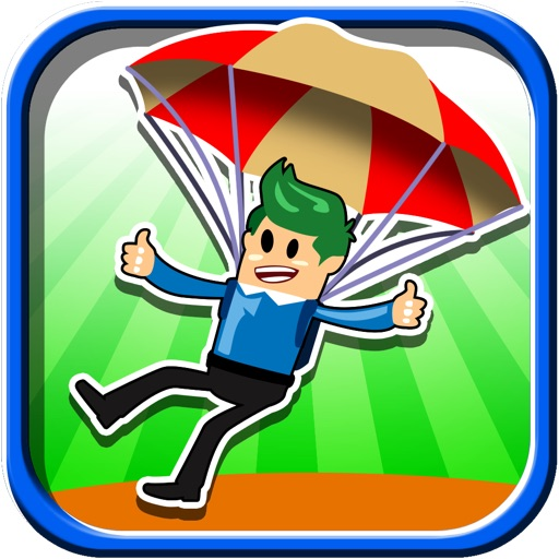 Air Doodle Man Parachute Base Jump - Free Fall Game