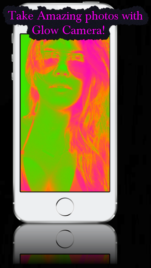 Glow Camera - View Crazy Cool Neon Fluorescent Rainbow