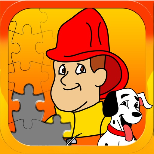 Fireman JigSaw Puzzle - Free Jigsaw Puzzles for Kids with Fun Firetruck and Firemen Cartoons - By Apps Kids Love, LLC iOS App
