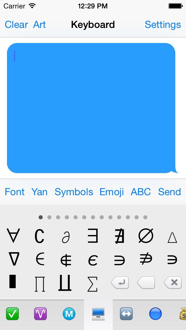 Symbol Keyboard Free - Unicode Symbols & Characters App Revisión