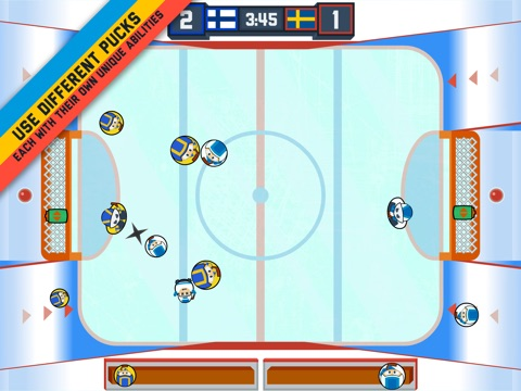Across The Table Hockey. A 2-Player Game Screenshot
