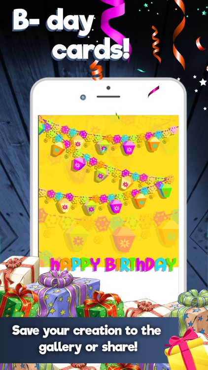 Happy Birthday Cards Maker – Create Best Free eCards and Invitation.s screenshot-4
