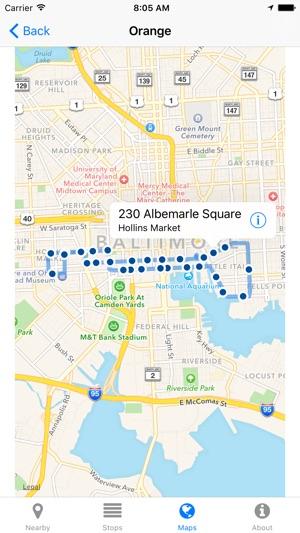Charm City Circulator Map on