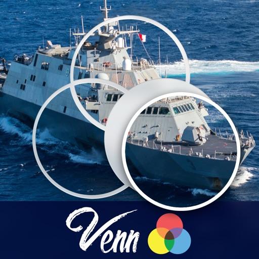 Venn Boats: Overlapping Jigsaw Puzzles
