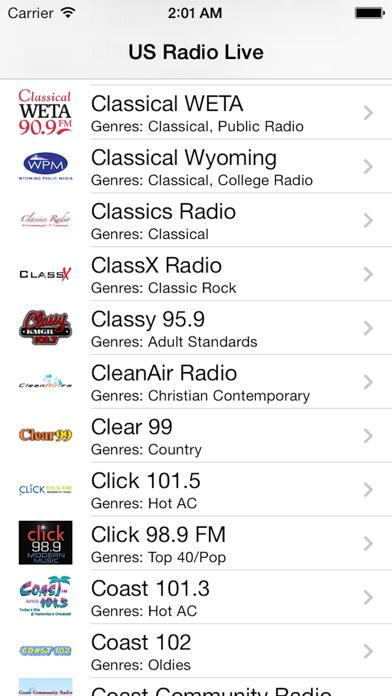 US Radio Live (United States of America USA) screenshot three
