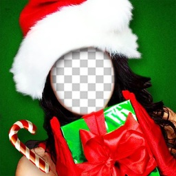 Christmas Face Photo Booth - Make your funny xmas pics with Santa Claus and Elf frames