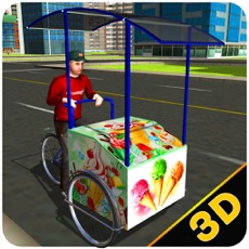 Activities of City Ice Cream Delivery – Ride bicycle simulator to sell yummy frozen food
