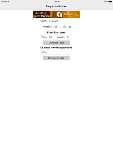 Easy Amortization Lite-ipad-0