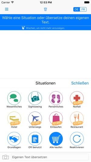 yocoy intelligenter bersetzer deutsch franz sisch im app store. Black Bedroom Furniture Sets. Home Design Ideas