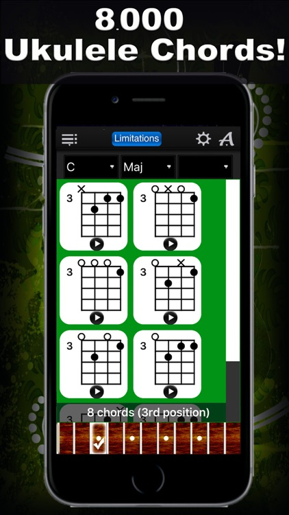 Ukulele Chords Compass Lite - learn the chord charts & play them screenshot-0
