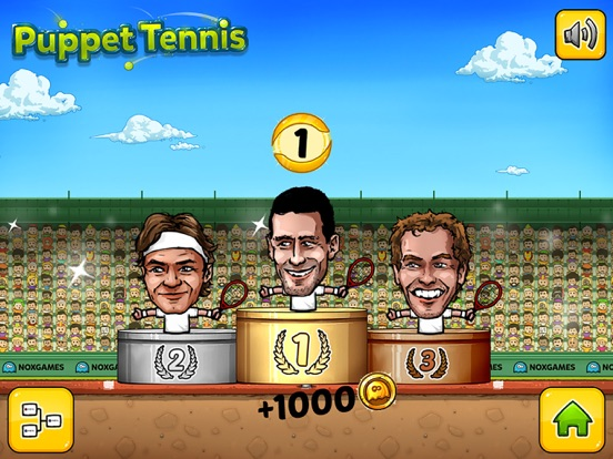 ... Screenshot  5 for Puppet Tennis  Topspin Tournament of big head  Marionette legends ... ef39ce3ab1ea1