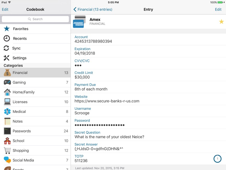 Codebook for iPad (Legacy) screenshot-3