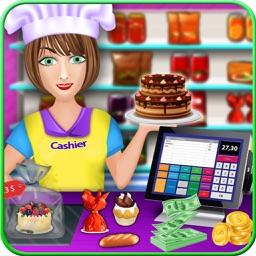 My Bakery Shop Cash Register  - Supermarket shopping girl top free time management grocery shop games for girls