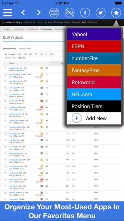 Fantasy Football All In One Pro