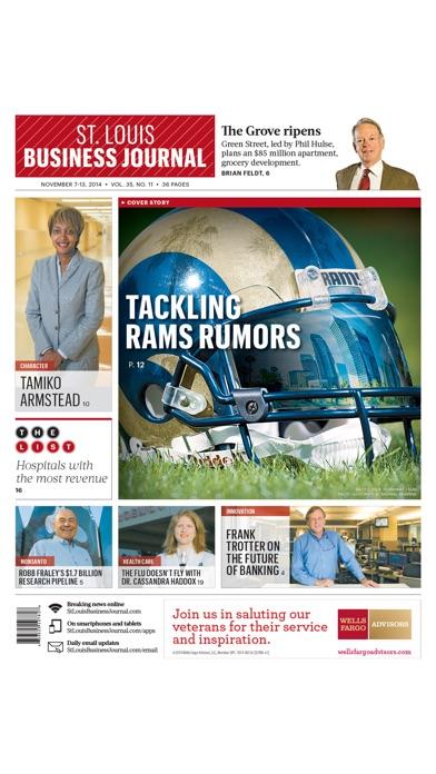 St Louis Business Journal review screenshots