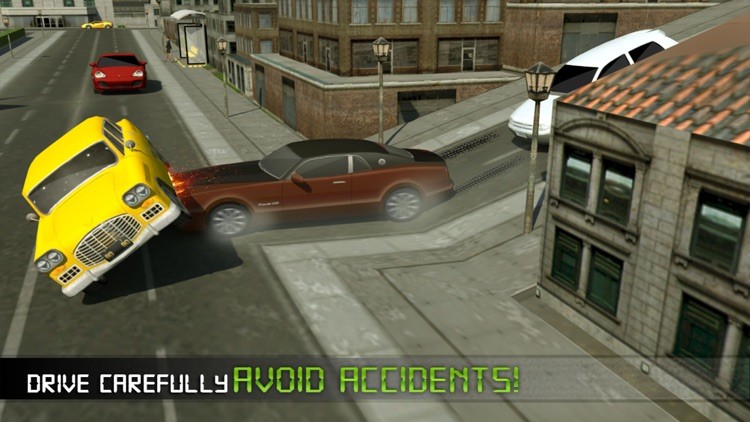 Electric Car Taxi Driver 3D Simulator: City Auto Drive to Pick Up Passengers screenshot-4