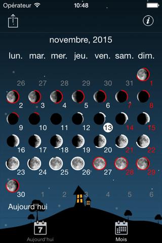 Sky and Moon phases calendar screenshot 4