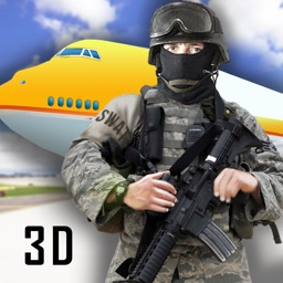 Airplane SWAT Team Force Elite Sniper Mission 3D Hostage
