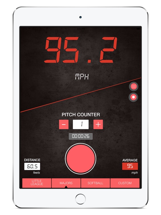 Baseball Pitch Speed Radar Gun HD