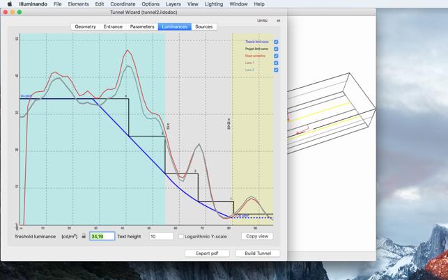 Tunnel lighting calc on the mac app store ccuart