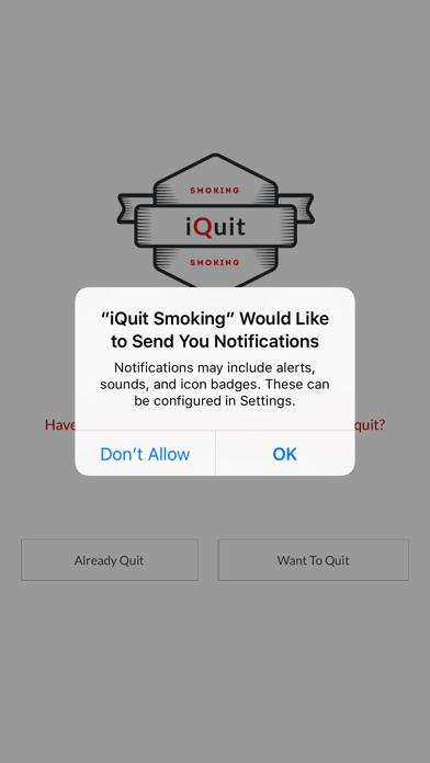 Quit smoking: iQuitSmoking App screenshot one