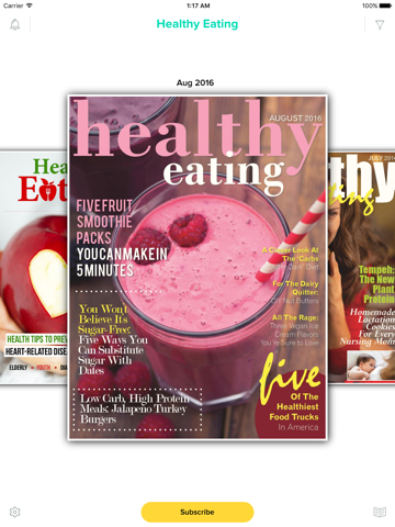 Screenshot of Healthy Eating Magazine