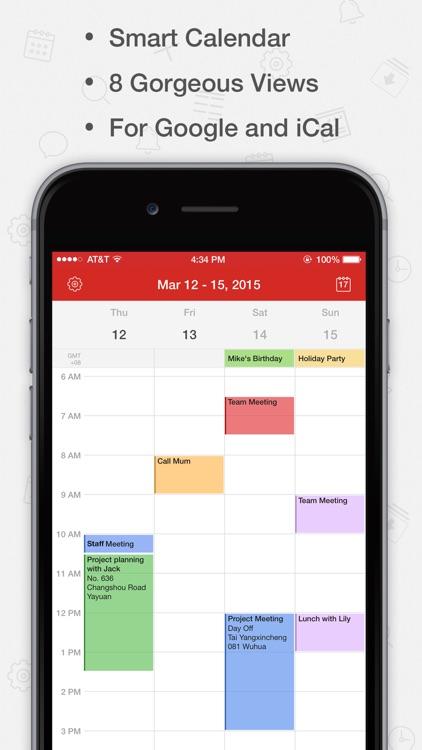 Tiny Calendar - Sync with Google Calendar screenshot-0