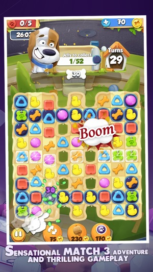 Cute Pet Match 3 Games Puzzle-Matching Jewels Saga on the