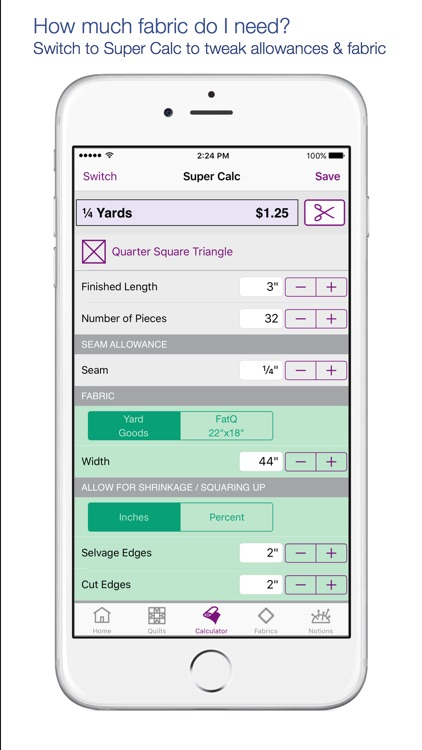 QuiltSandwich : Quilt Fabric Calculator