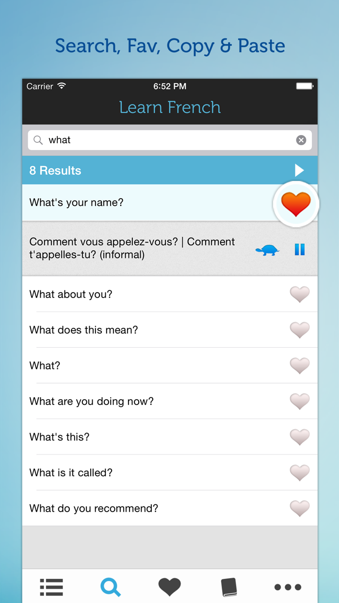 Learn French - Phrasebook for Travel in France Screenshot