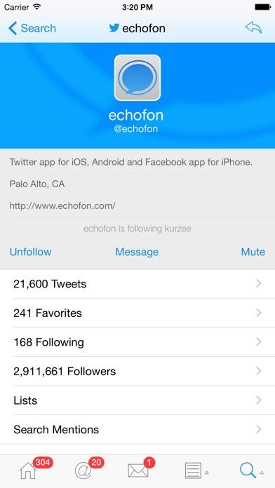 Echofon Pro For Twitter review screenshots