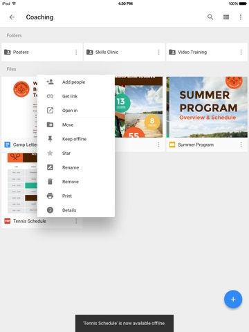 Google Drive – хранилище Screenshot