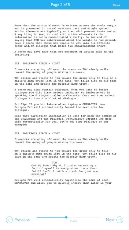 Scripts Pro - Screenwriting on the Go screenshot-4