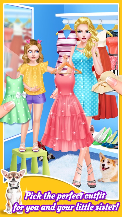 Sweet Sisters Cute Pet Salon - Spa, Makeup & Dressup Game for Girls screenshot-3