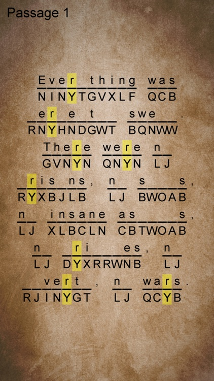 Cryptogram Tale