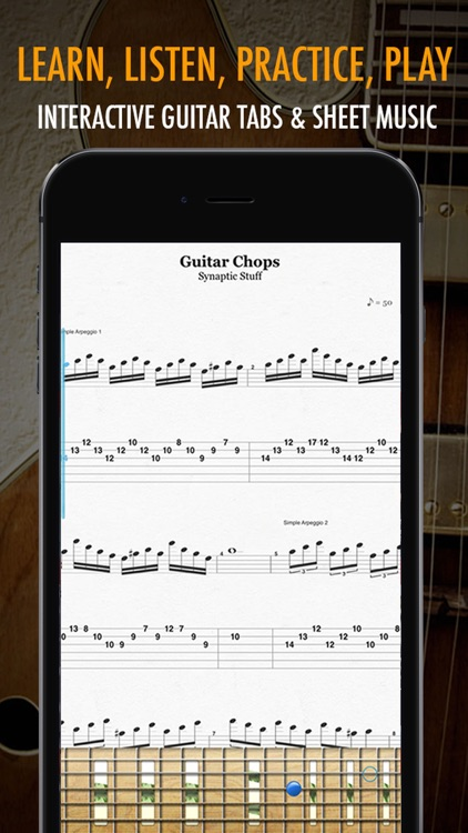 Pocket Jamz Guitar Tabs Lite - Giant Catalog of Interactive Guitar Songs with Tabs, Lyrics and Chords