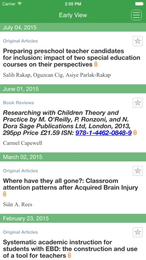 Journal of Research in Special Educational Needs on the App Store