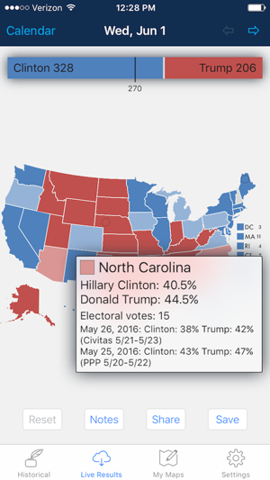 Presidential Election Electoral College Maps On The App Store - Us-elections-2016-live-map