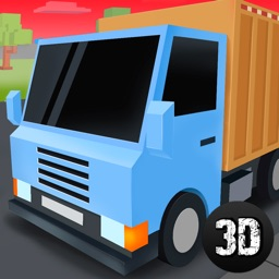 Pixel City Garbage Truck Driver 3D Full