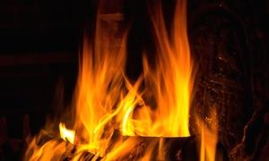 Fireplace on TV